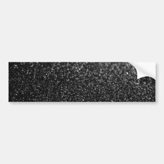 Black Glitter Glamour Bumper Sticker