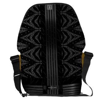 Black Glitter Stars Messenger Bag