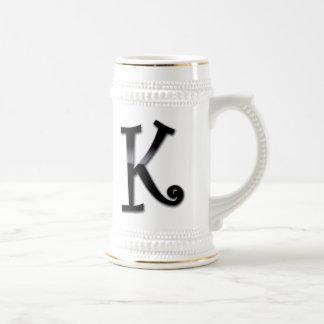 Black Gloss Monogram - K Coffee Mug