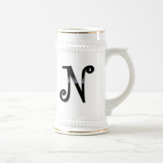 Black Gloss Monogram - N Mug