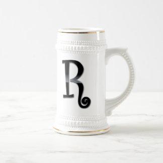 Black Gloss Monogram - R Coffee Mug