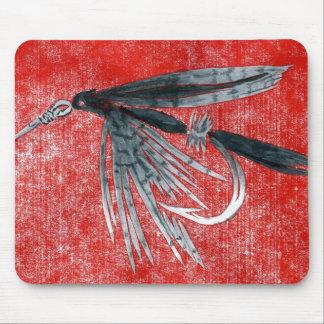"""""""Black Gnat"""" Trout Fly Mousepad"""