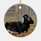 Black goat ceramic ornament