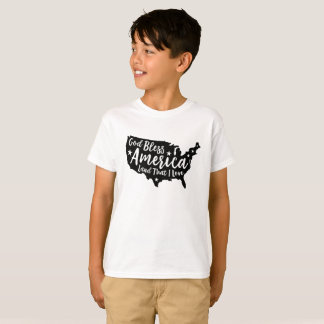 Black God Bless America Patriotic T-Shirt