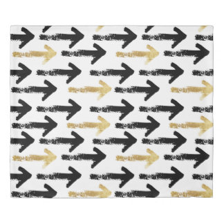 Black & Gold Arrows Duvet Cover