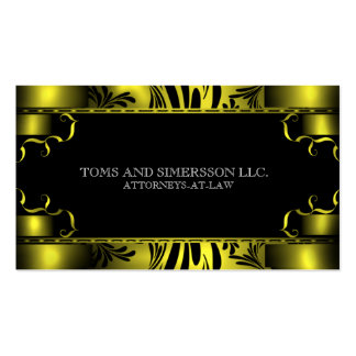 Black Gold Attorney Lawyer Law Firm Business Card