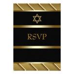Black Gold Bar Mitzvah RSVP