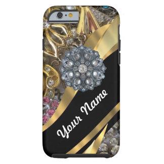 Black & gold bling tough iPhone 6 case