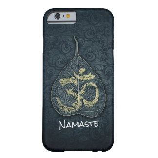 Black & Gold Bodhi Leaf OM Symbol YOGA Instructor Barely There iPhone 6 Case