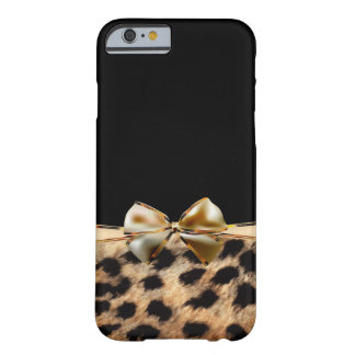 Black & Gold Bow Leopard Cheetah Animal Print Barely There iPhone 6 Case