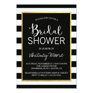 Black & Gold Bridal Shower Invitation