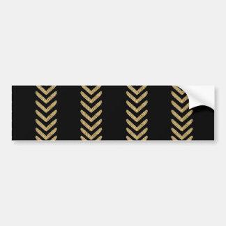Black Gold Chevron Arrows Stripes Bumper Sticker