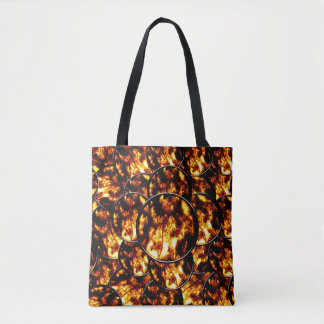 Black Gold Circles Tote Bag