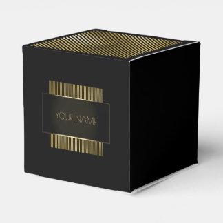 Black Gold Conceptual Minimal Name Geometry Favor Box