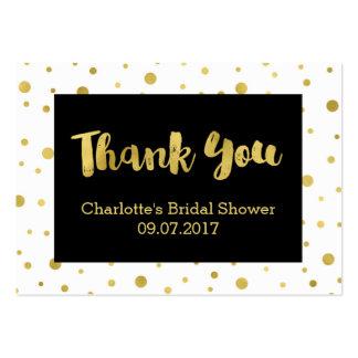 Black Gold Confetti Bridal Shower Favor Tags Large Business Card