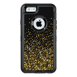 Black & Gold Confetti Design OtterBox Defender iPhone Case
