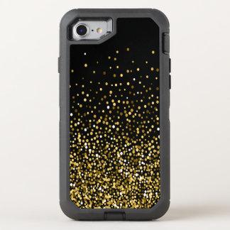 Black & Gold Confetti OtterBox Defender iPhone 7 Case