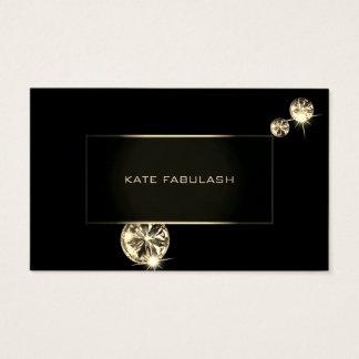 Black Gold Diamond Fashion Stylist Crystals Business Card