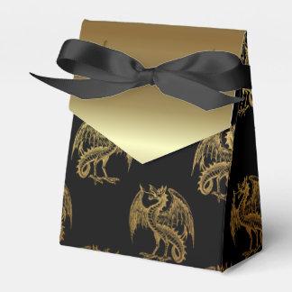 Black gold Dragon pattern party favor box