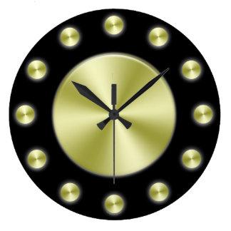 Black Gold Elegant Wall Clock