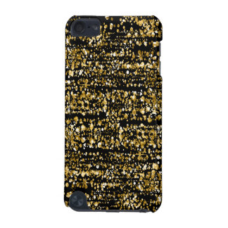 Black & Gold Faux Glitter & Sparkles iPod Touch (5th Generation) Case