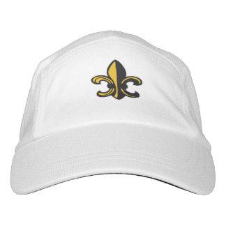 Black & Gold Fleur de Lis Hat
