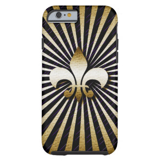 Black & Gold Fleur-de-Lis I Phone 6 Case
