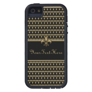 Black Gold Fleur de Lis iPhone 5 Case