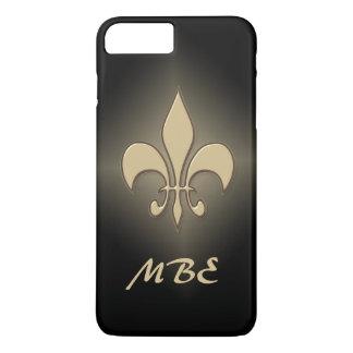 Black Gold Fleur de Lis iPhone 8 Plus/7 Plus Case