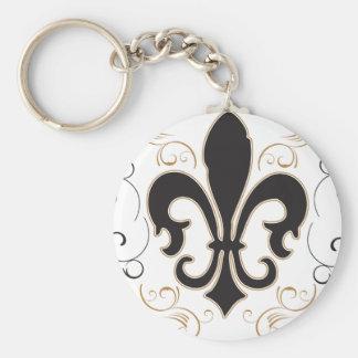black_gold Fleur Keychain