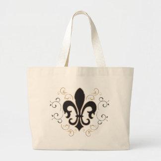black_gold Fleur Large Tote Bag