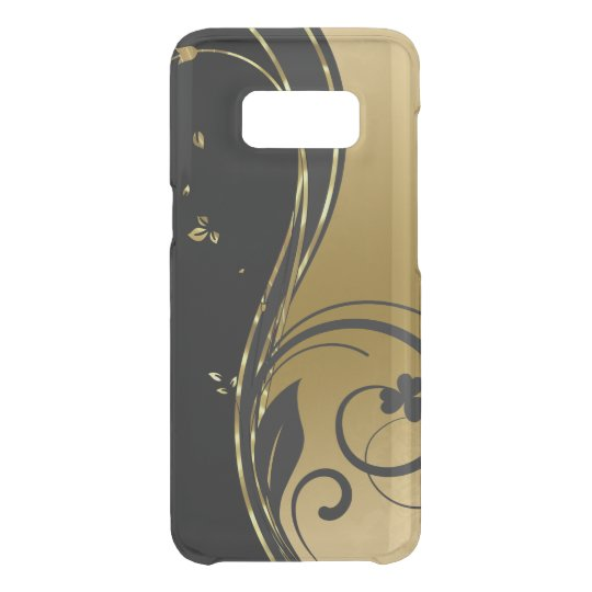 Black & Gold Floral Swirls Design Uncommon Samsung Galaxy S8 Case
