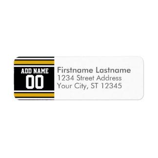 Black Gold Football Jersey Custom Name Number