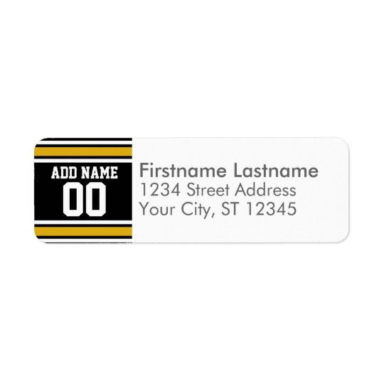 Black Gold Football Jersey Custom Name Number
