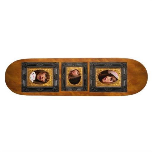 Black & Gold Frame - Add Your Photo! Skate Deck