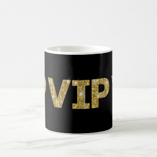 Black & Gold Glitter VIP Coffee Mug
