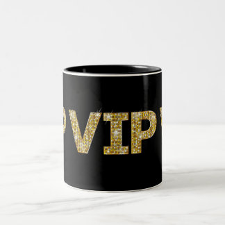 Black & Gold Glitter VIP Two-Tone Coffee Mug