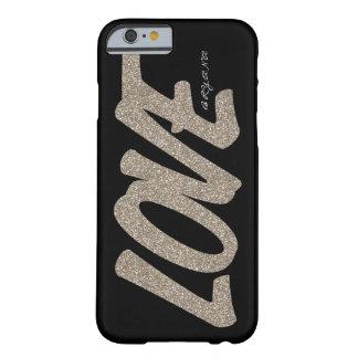 Black Gold & Gold LOVE Sparkle Glitter Phone Case