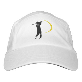 Black Gold Golf Swirl Personalized Headsweats Hat