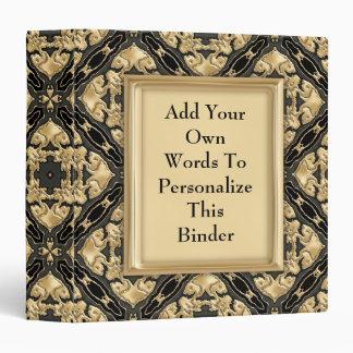 Black & Gold Lace Vinyl Binder