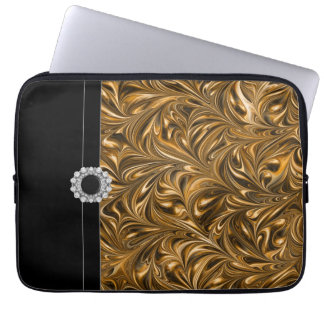 Black Gold Laptop Sleeve