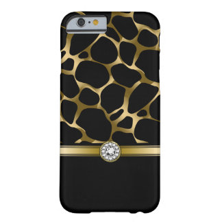 Black Gold Leopard Animal Print Barely There iPhone 6 Case
