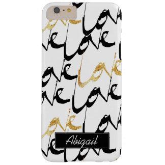 Black & Gold Love Monogram Phone Case