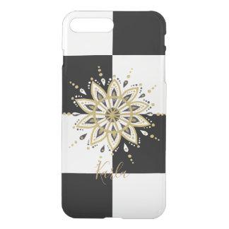 Black & Gold Mandala On Geometric Background iPhone 8 Plus/7 Plus Case