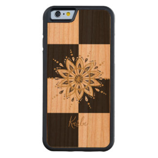 Black & Gold Mandala With Geometric Background 3a Carved Cherry iPhone 6 Bumper Case