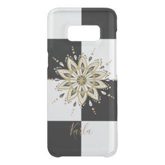 Black & Gold Mandala With Geometric Background Uncommon Samsung Galaxy S8 Case