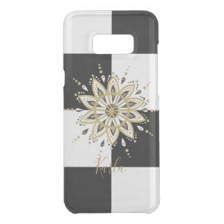 Black & Gold Mandala With Geometric Background Uncommon Samsung Galaxy S8 Plus Case