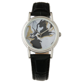 black gold marble watch