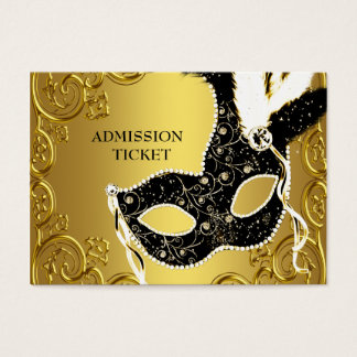 Black Gold Masquerade Party Admission Tickets