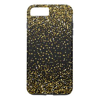 Black & Gold Modern Confetti Design Case-Mate iPhone Case